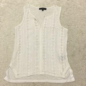 🎀Anthropologie Sanctuary white lace tank top